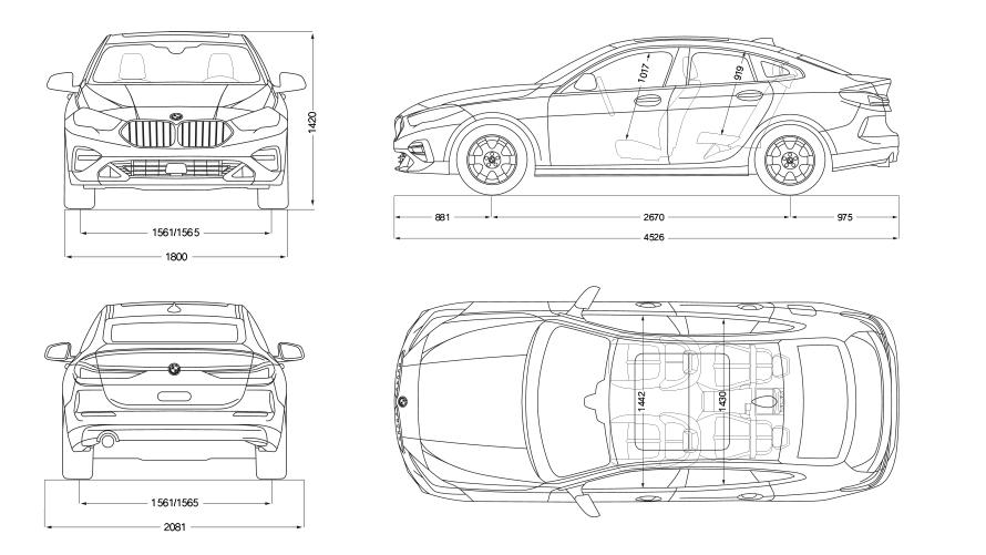 Technische Daten BMW 2er Gran Coupé