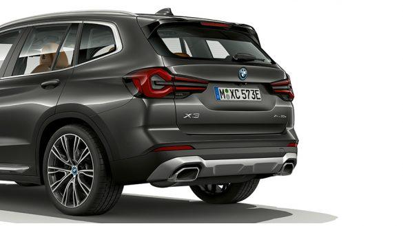 BMW X3 G01 Sophistograu Nahaufnahme Heckdesign 2021
