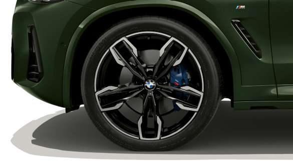BMW X3 M40i M40d G01 LCI Facelift 2021 Malachitgrün metallic 21'' M Leichtmetallräder Doppelspeiche 718 M