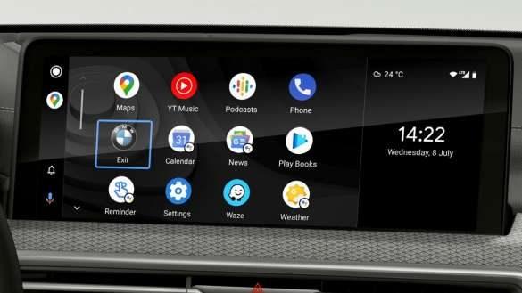 BMW X4 M Automobile F98 G02 LCI 2021 Facelift Smartphone Integration Control Display
